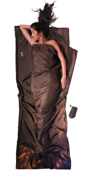 Cocoon TravelSheet inlet silk bruin